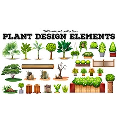 Many kind of plants vector