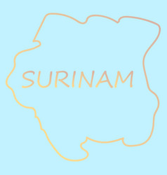 Map outline and flag of suriname a horizontal vector