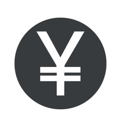 Monochrome round yen icon vector