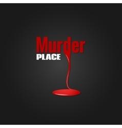 Murder blood design background vector