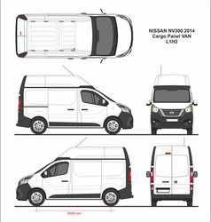 Nissan nv300 cargo panel van l1h2 2014 vector