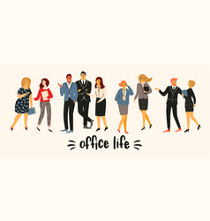 office people office vector image
