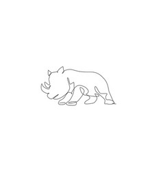 one continuous line drawing big african vector image