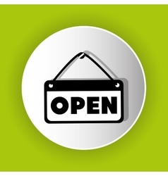 Open advert icon symbol design vector image