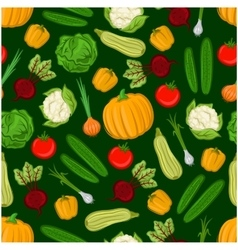 Organic vegetables seamless background vector image