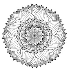 Ornamental floral mandala flower ornament pattern vector