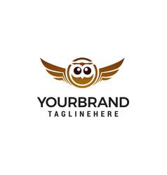 owl logo design concept template vector image