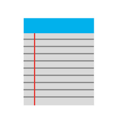 Paper notebook isolated icon vector