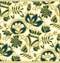 Peasant decorative flower seamless pattern vector