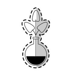 Plant in test tube icon imag vector