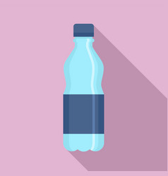 plastic water bottle icon flat style vector image