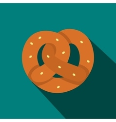 Pretzel icon in flat style vector