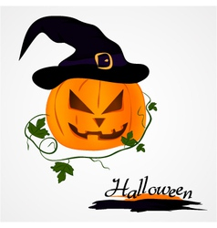 Pumpkin with hat vector