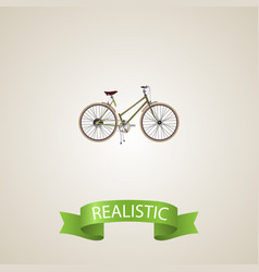 Realistic woman cycle element vector