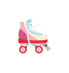 rollers and ice skates sport vector image
