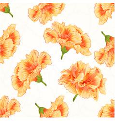 Seamless texture yellow hibiscus cracks vintage vector