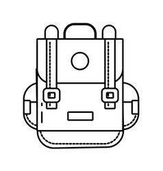 travel backpack cartoon vector image
