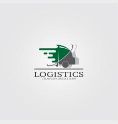 Trucking transportation logo logo for business vector