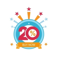 Twenty discount icon Sales design template vector image