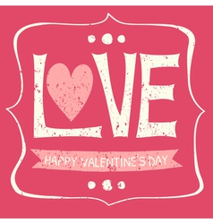 typographic vintage design greeting card vector image