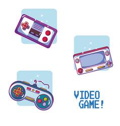 Videogame retro portable consoles vector