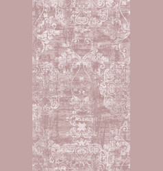 vintage baroque damask ornament pattern vector image