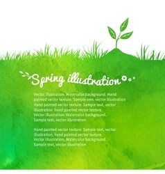 Background with growing sprout vector image