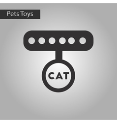 Black and white style icon cat collar vector