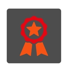 Certification Stamp Rounded Square Button vector image