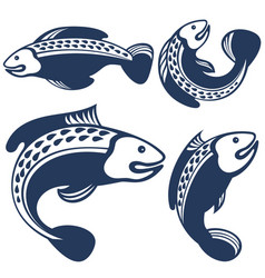 collection of fishes vector image vector image