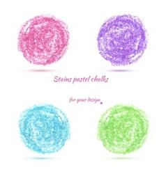 design elements pastel chalks vector image vector image