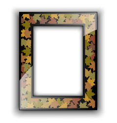 Glass photo frame Autumn design vector image vector image