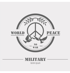 Military logos and badges Graphic template vector image