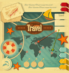 Travel Postcard vector image vector image