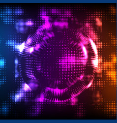 abstract colorful mesh background vector image vector image