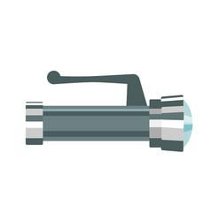 the metallic flashlight vector image vector image