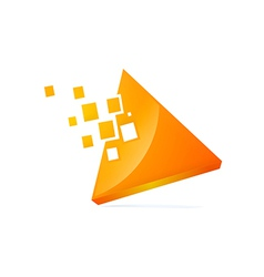 triangle 3D technology logo vector image