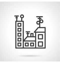 Black line city icon vector image vector image