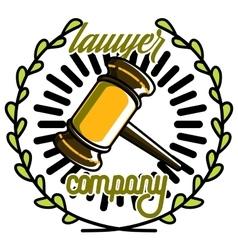 Color vintage lawyer emblem vector image