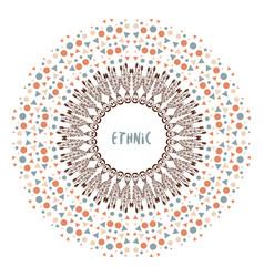 Colorful ethnic frame ethnic decorative elements vector