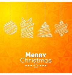 Merry Christmas gifts card abstract orange vector image