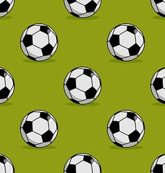 Soccer ball seamless pattern Sport accessory vector image vector image