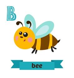 Bee B letter Cute children animal alphabet in vector image vector image