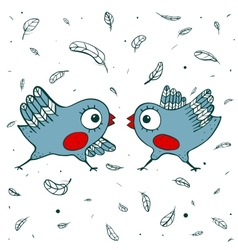 Birds Quarrel vector image vector image