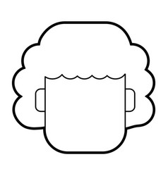 Faceless woman with short curly hair icon image vector