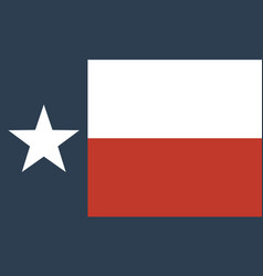 flag of the us state of texas vector image