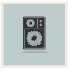 Retro Background Loudspeaker vector image vector image