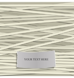 Stripe pattern with Label for Text vector image