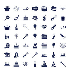 49 celebrate icons vector