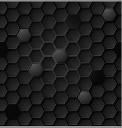 Abstract black hexagon seamless pattern eps vector